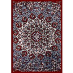 Hippie Wall Hanging Tapestry  Sky Blue