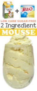 Easy, low carb, sugar-free mousse pudding! So rich and yummy!