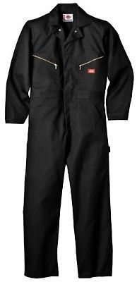 20ba738909 Dickies Men's Deluxe Long Sleeve Blended Coverall, Black, Large/Regular