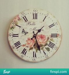 clock <3 #flowers #decor #interior #watch #shabby chic #butterfly #clock