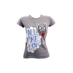 All Time Low Monster Ladies Skinny Fit T-Shirt ($26) ❤ liked on Polyvore