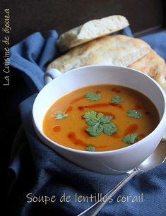 Une soupe de lentilles corail rassasiante. La lentille corail donne un bel aspect orangé. La soupe de lentille corail ou velouté turc appelé mercimek çorbasi