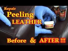 REPAIR PEELING LEATHER VIDEO ***** - YouTube