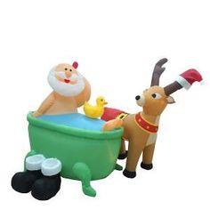 Air-Powered Santa in the Bathtub