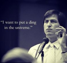 """""""I want to put a ding in the universe."""" - Steve Jobs  #love #photooftheday #tbt #motivation #happiness #passion #success #progress #quoteoftheday #dreams #hardwork #marketing #character #startup #technology #vision #popular #onward #makeityourown #instagram #instapicture #instagood #inspiration #inspire #entrepreneur #entrepreneurship #socialmedia #social #turnmeon"""