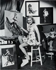 Zoë Mozert – born Alice Adelaide Moser, was an American illustrator. She was one of the early Century's most famous pin up artists and models Rolf Armstrong, Gil Elvgren, Colorado Springs, Pin Up Girls, Pin Up Illustration, Earl Moran, Artists And Models, Male Artists, Pin Up Art