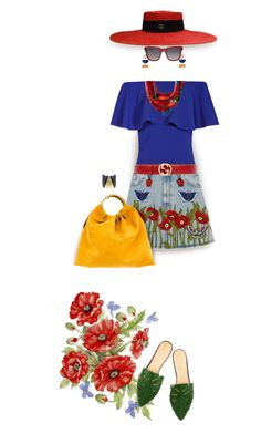 """She always had to stop for roadside poppies."" by grownuppaperdolls ❤ liked on Polyvore featuring art, outfitonly and invisibledolls"