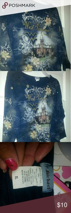 Floral design West Virginia t-shirt West Virginia shirt Alpha Massimo Rebecchi Tops Tees - Long Sleeve