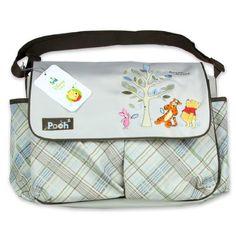 Large Diaper Bags, Baby Diaper Bags, Diaper Bag Backpack, Baby Bags, Winnie The Pooh Nursery, Disney Winnie The Pooh, Baby Disney, Diaper Bag Checklist, Diaper Bag Essentials