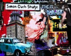 Simon Dach Straße. Berlin. Fotocollage.