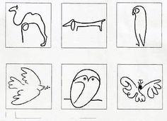 Picasso's animal line drawings・・・【絵・ふわふわ点点】