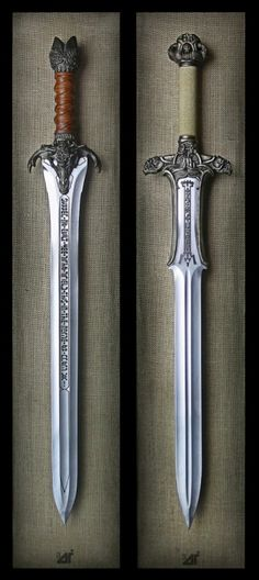 The Atlantian and the Father Swords from Conan the Barbarian