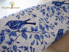 Birds on the Vine from Michael Miller's Blue & White collection.  Now available at Laughing House Fabric: http://laughinghousefabric.etsy.com/