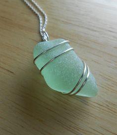 Sea Glass Necklace   Beach Glass Jewelry  GLOW by SeaFindDesigns, $20.00