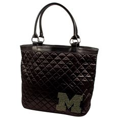 Michigan Wolverines NCAA Sport Noir Quilted Tote