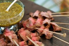 Austin Catering's Flank Steak Skewers with Chimichurri