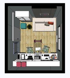 Home Office - Planta Baixa  Projeto: Alessandra Onofri