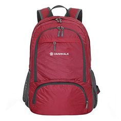 Foldable DaybackBackpack Packable Handy Lightweight Travel Hiking Backpack  Daypack Red 35L   You can get more 620077538f2da
