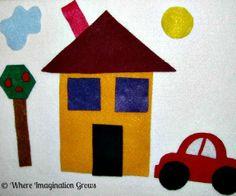 Shape felt set for toddlers and preschoolers
