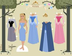 Princess Aurora paper doll