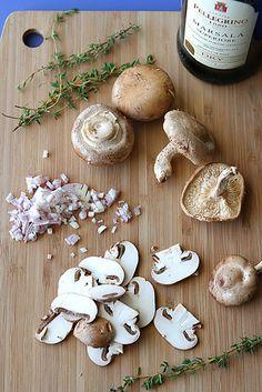 Sauteed Mushrooms with Marsala Wine & Thyme Recipe - Cookin' Canuck Thyme Recipes, Fall Recipes, Wine Recipes, Food Tips, Food Hacks, Food Ideas, Fun Food, Good Food, Marsala Mushrooms