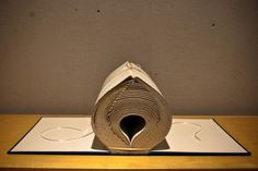 If you are a fan of traditional books, you'll love this creative art. This artist manipulates the pages of books to create these fascinating art pieces.