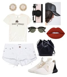 """""""#Lunchtime"""" by nanamariam on Polyvore featuring adidas Originals, One Teaspoon, Kate Spade, Ray-Ban, Billabong, Lime Crime and Lacoste"""