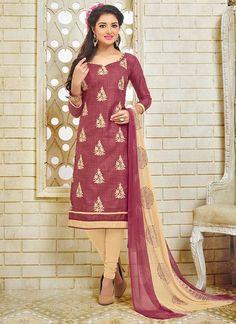 Buy Incredible Maroon Silk Churidar Suit, Online #punjabisuits #punjab #patiyalasuits #anarkalisuits #anarkali  #glamourfashion #glamourous