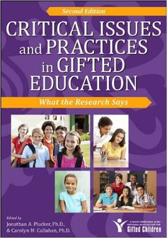 Critical Issues and Practices in Gifted Education: What the Research Says: Amazon.es: Jonathan A. Plucker, Carolyn M. Callahan: Libros en idiomas extranjeros