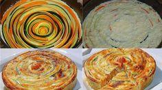 """Овощной пирог """"Радужный""""   Четыре вкуса"""