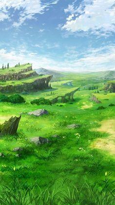 Fantasy Art Landscapes, Fantasy Landscape, Landscape Art, Beautiful Landscapes, Anime Backgrounds Wallpapers, Anime Scenery Wallpaper, Fantasy Concept Art, Fantasy Artwork, Fantasy Places