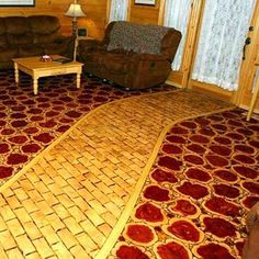 pictures of tiled bathroom floors flooring made from end grain log wafers and sawdust grout 23986