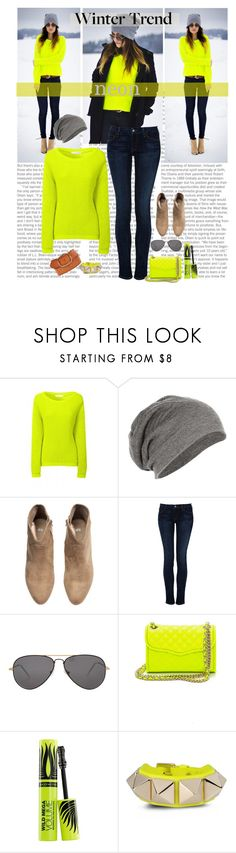 """""""Winter Trendz:Neon"""" by bamaannie ❤ liked on Polyvore featuring H&M, Koral, Sheriff&Cherry, Rebecca Minkoff, Max Factor, Valentino, Linea Pelle, neon, contestentry and wintertrend"""