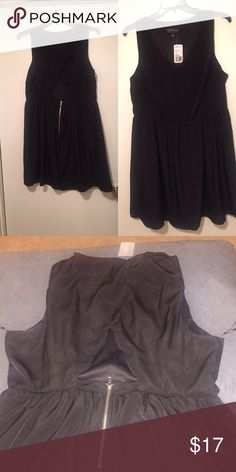 🎉20% Off Bundles!🎉Sleeveless Party Dress NWT...Open back, scalloped detailing Forever 21 Dresses