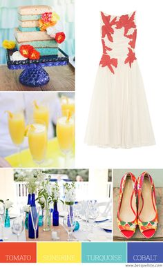 Color Palette: Tomato, Sunshine, Turquoise and Cobalt