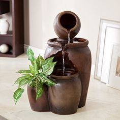 What Are the Pros And Cons of Home Water Fountain? : Indoor Water Fountains For Home Decor. Indoor water fountains for home decor. Modern Indoor Fountains, Small Fountains, Outdoor Fountains, Water Fountain For Home, Garden Water Fountains, Water Garden, Fountain Garden, Indoor Waterfall, Waterfall Fountain