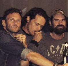The men of Outlander - Steven Cree, Sam Heughan, Duncan Lacroix ❤️