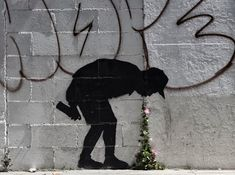 orguns:  fyeahblackhippy:  sarahvisualart:  The latest Banksy  I wanna meet him.  Same