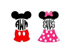 Mickey & Minnie instant download cut files for by bibberberry