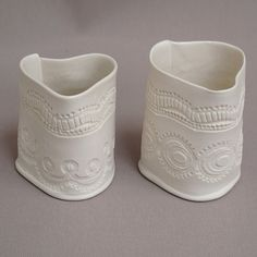 Pair of small heart pots - Craft Central