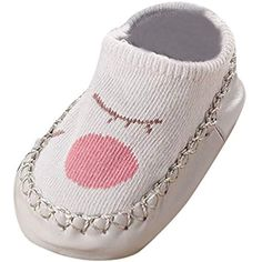 DAY8 Chaussette Antid/érapante B/éb/é Fille Hiver Coton Chaussettes B/éb/é Gar/çon Naissance Hautes Automne Mignon Imprim/é Sock Bottes Pantoufle 1 Paire Chaussettes de sol pour Enfant 1-3.5 Ans