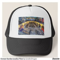 Covent Garden London View Trucker Hat - Urban Hunter Fisher Farmer Redneck Hats By Talented Fashion And Graphic Designers - #hats #truckerhat #mensfashion #apparel #shopping #bargain #sale #outfit #stylish #cool #graphicdesign #trendy #fashion #design #fashiondesign #designer #fashiondesigner #style