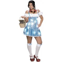 Wizard of Oz Sexy Naughty Plus size Sequin Dorothy Costume - dress sizes 14-16