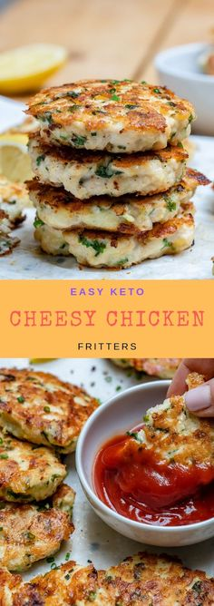 Cheesy Chicken Fritters Recipe easy keto cheesy chicken fritters is part of Chicken fritters recipe - Ketogenic Recipes, Low Carb Recipes, Diet Recipes, Cooking Recipes, Healthy Recipes, Slimfast Recipes, Lunch Recipes, Cooking Cake, Easy Recipes