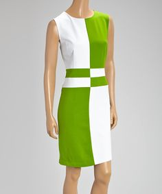 Another great find on Green & White Color Block Sleeveless Dress Women's Fashion Dresses, Sexy Dresses, Beautiful Dresses, Nice Dresses, Evening Dresses, Casual Dresses, Short Dresses, Dresses For Work, Simple Work Outfits