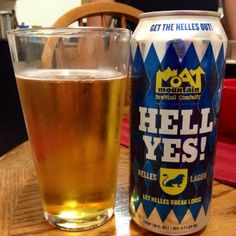 Moat Mountain Brewing Co. HELL YES! Helles Lager