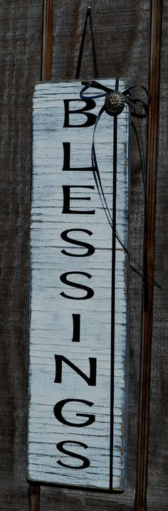 Rustic Primitve Beach Wood Sign Door Hanger by CarovaBeachCrafts