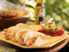 Tilapia Tacos with Peach Relish | Versatile, economical tilapia is a fish that's a perfect canvas for a variety of sauces and seasonings.