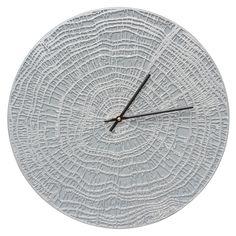 "Whitehall End Grain 16"" Indoor/Outdoor Aluminum Clock Grey/Silver"
