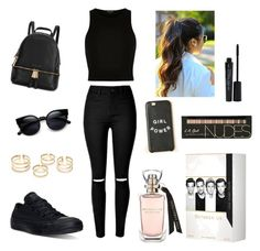 """Untitled #1"" by aylinstyles ❤ liked on Polyvore featuring River Island, Converse, Michael Kors and Smashbox"